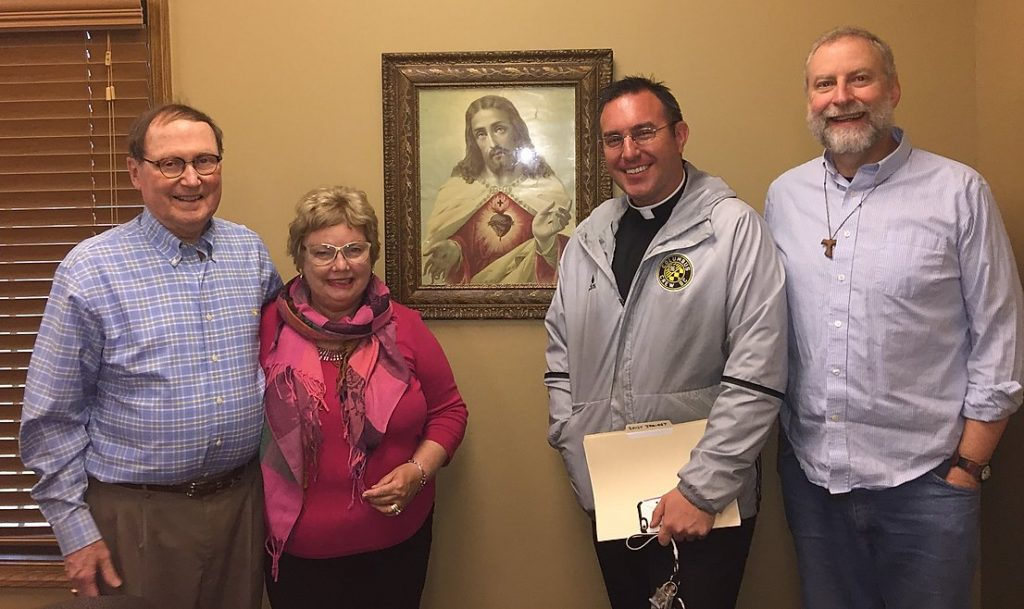 The Sacred Heart Hour Monthly Radio Program- Hosted by Fr. Stash Dailey, Chuck and JoAnn Wilson and Dave Orsborn is the Studio Manger.