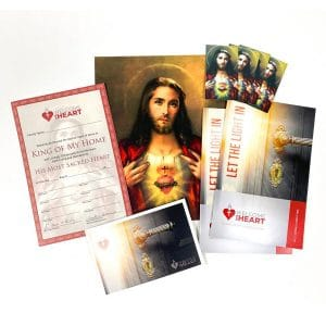 Welcome His Heart Kit for Home Enthronement to the Sacred Heart of Jesus