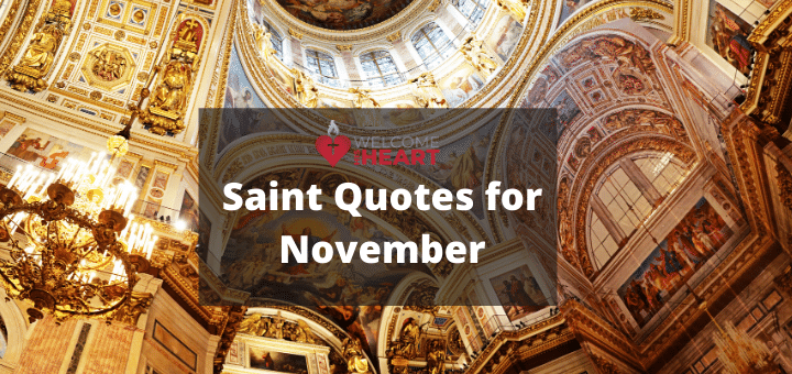Saint Quotes for November At a Glance: