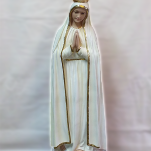 Virgin Mary statue with crown